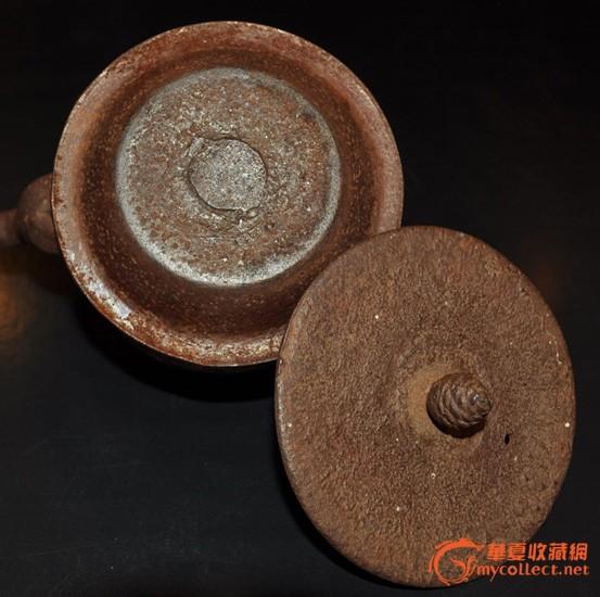 日本老煎茶器,竹叶梅花纹样正寿堂南部老铁壶