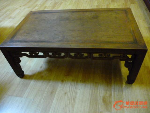 民国 红木紫檀花梨木嵌银丝小长方桌 美品