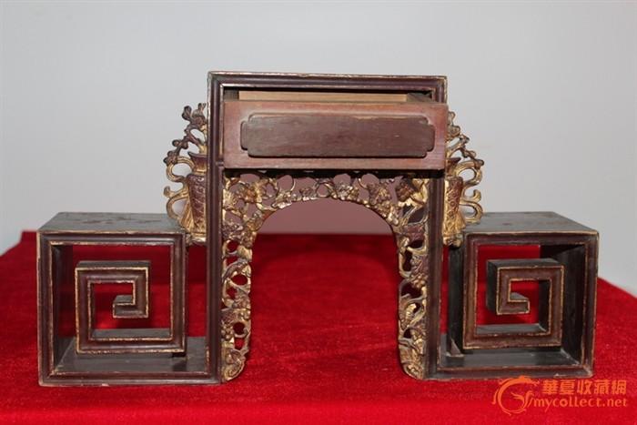 清代木雕摆件座860元