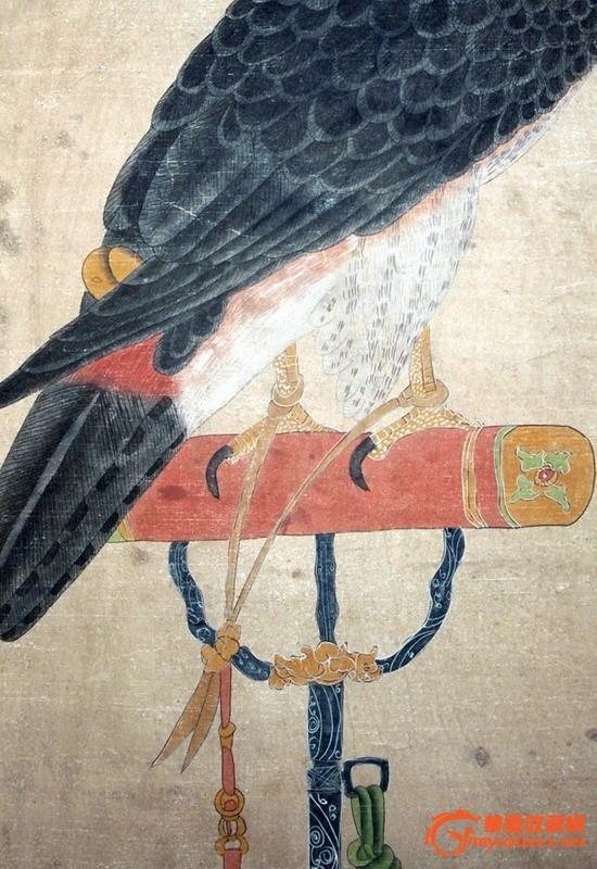 宋徽宗·御鹰 (手绘画)