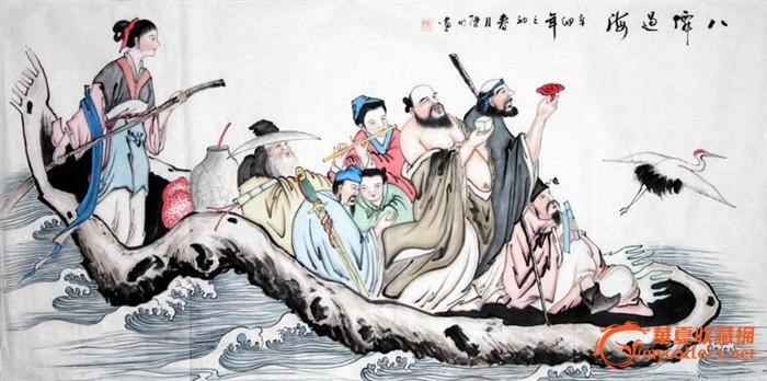 地摊 字画 其它 > 陈明四尺人物 八仙过海   显示上一幅图片 显示下