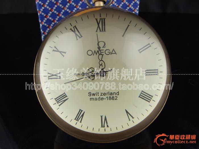 omega玻璃球座钟走时准确机械表手动上弦80mm图片