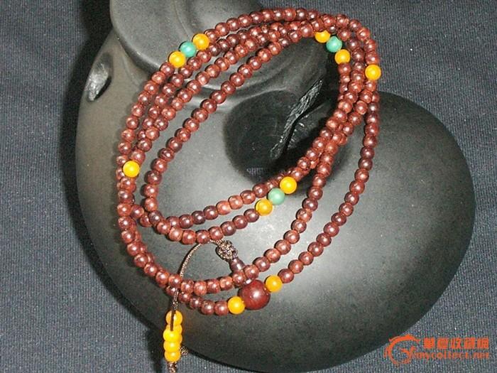 印度小叶紫檀216颗佛珠/手链/项链 3mm