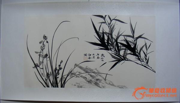 当代著名书画家章月中《九里香》一幅,精品保真!图片