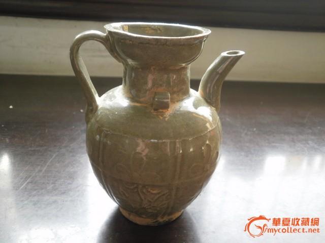 古懂黑梅花花纹陶瓷瓶图片
