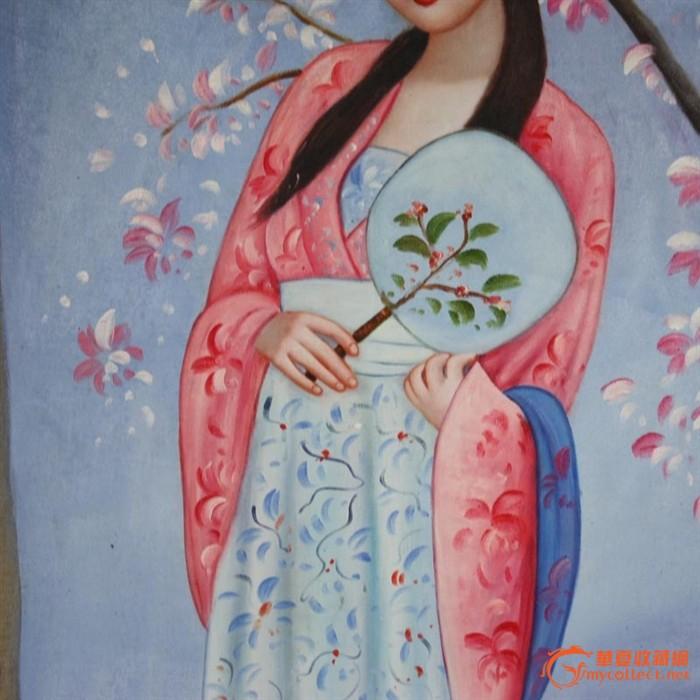 油画古典美女图 有名家落款 非常漂亮