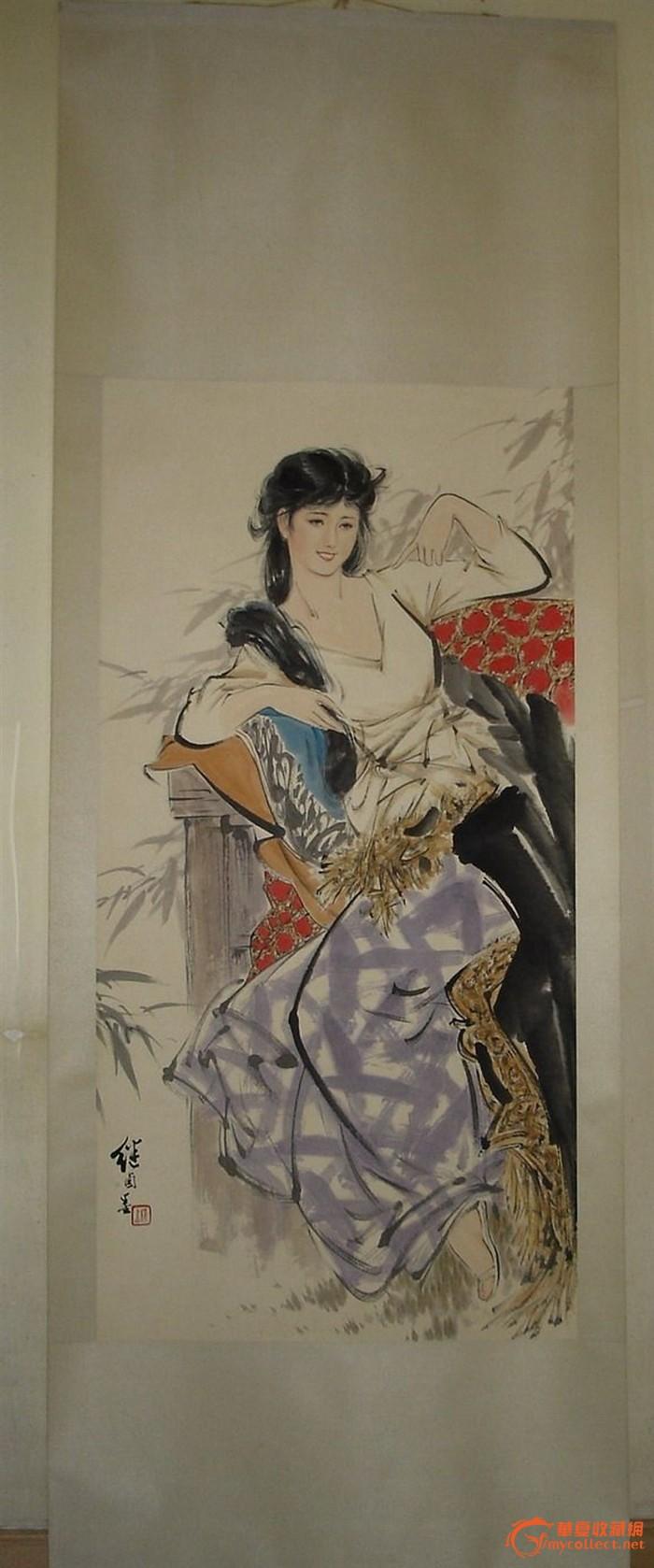 (本网已鉴定)现代人物画大师 刘继卣 四尺人物图 立轴