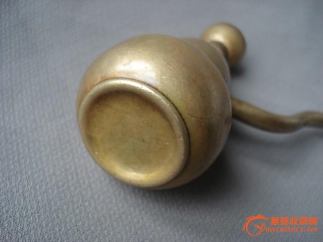 铜水烟袋 铜水烟袋价格 铜水烟袋图片 来自藏友绿色菜园子 铜器 cang.图片