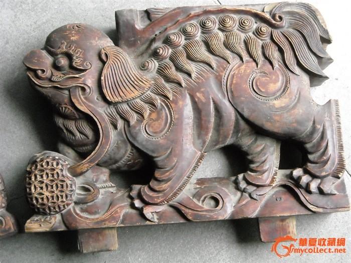胖狮子木雕