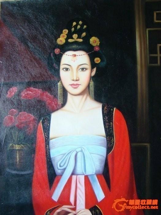 古典美女油画