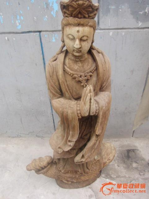 老木雕,南海观音