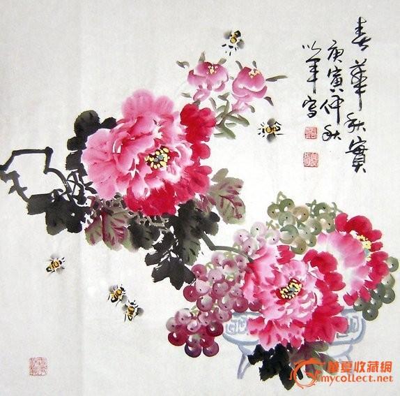 四尺斗方写意花鸟国画.春华秋实