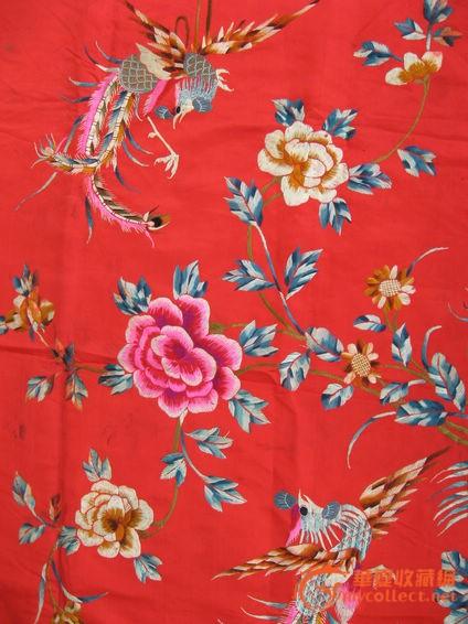 凤凰牡丹刺绣