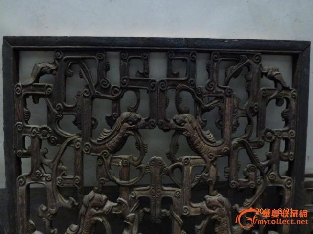清代精品木雕大窗