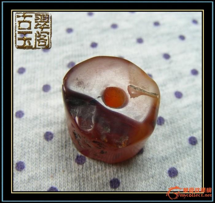 玛瑙大筒珠珠 材    质:古代玛瑙