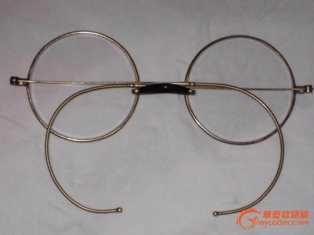 金丝平光水晶眼镜