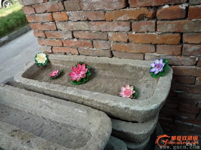 960型创意水景老石器老石头水槽石槽鱼盆花缸洗手池