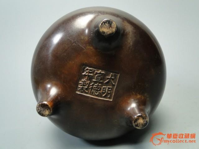 大明宣德年制铜香炉价格实惠