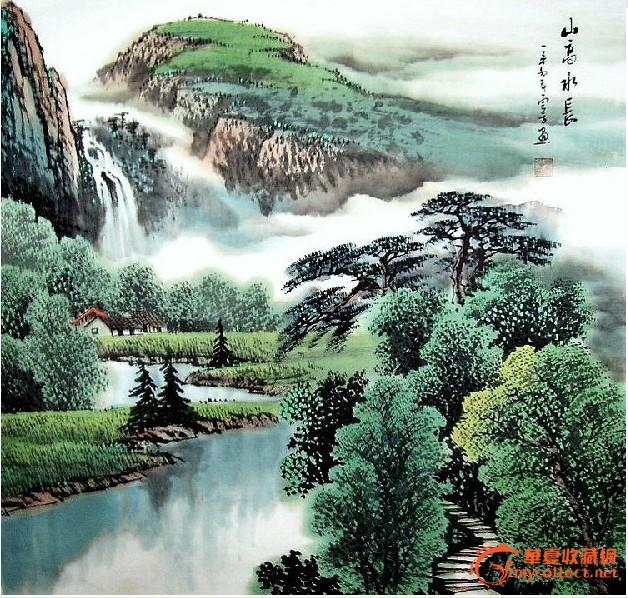 四尺斗方国画山水画g01图片