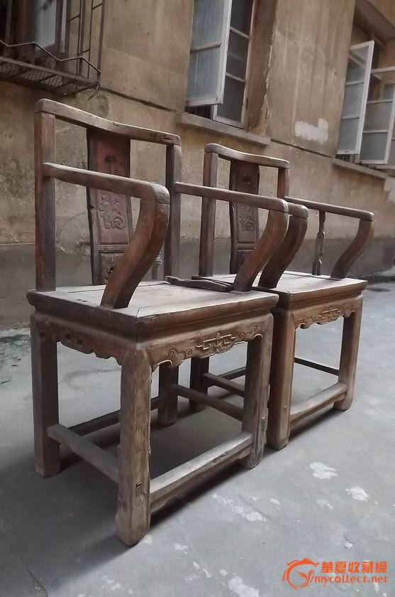 一对清朝楠木椅子-----------包老