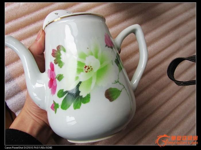 卖个人气 民国花卉诗句茶壶一把-卖个人气 民国