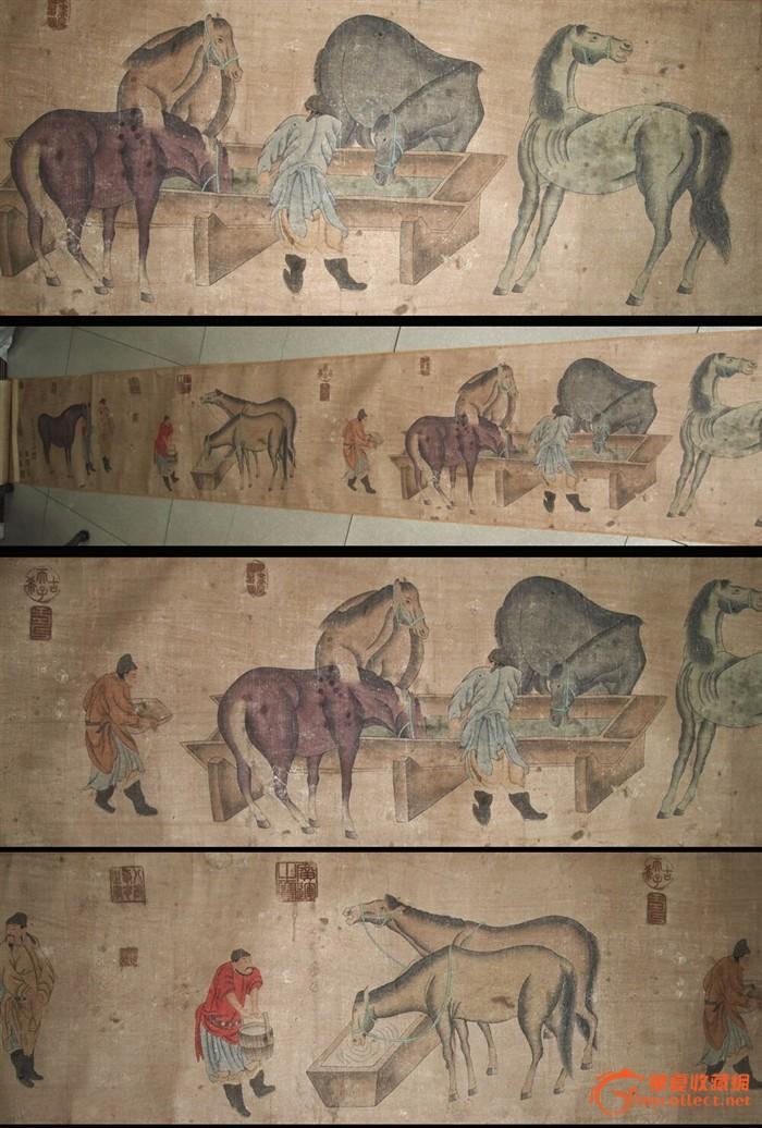 手绘长卷·《天育骠骑图》