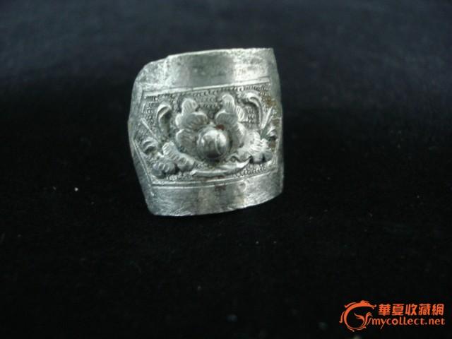 漂亮的老银戒指-图1