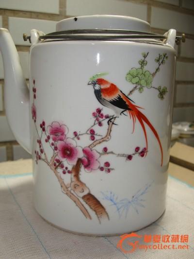 省工艺美术大师手绘《野趣》八件套功夫茶具 省工艺美术大师作品