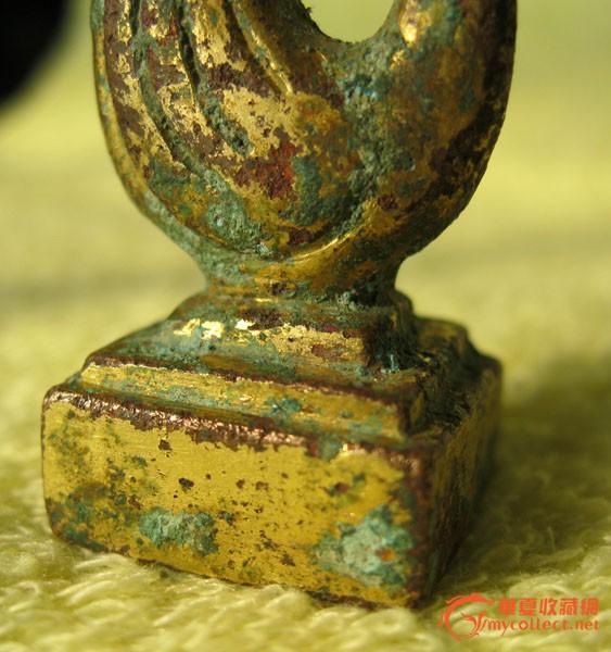 凤凰造型鎏金青铜印图片
