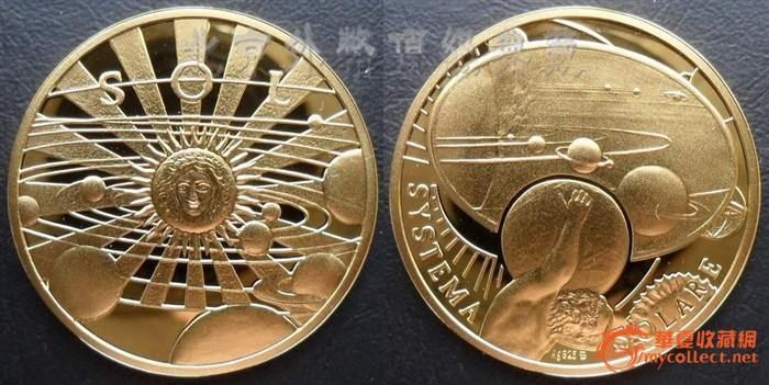 波兰2009年太阳系八大行星精制彩色镀金纪念银章套装
