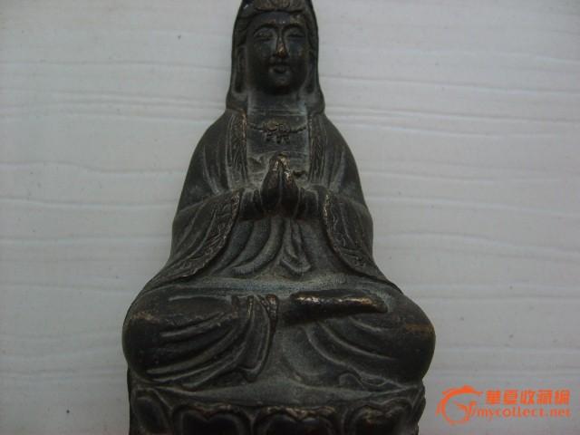 民国观音铜佛像