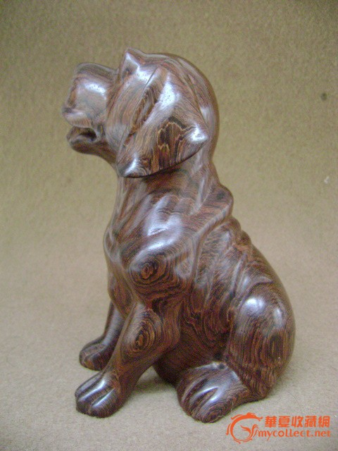 木雕可爱宠物大耳朵狗