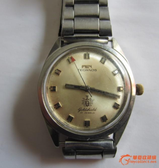 """瑞士名牌原装""""天克诺""""手表,表盘下方有天克诺标志,保证原高清图片"""