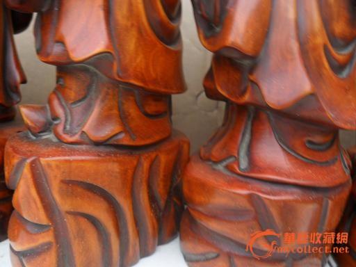 精品纯手工雕刻黄杨木雕八仙过海 高38公分
