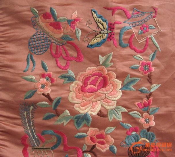 花篮花卉刺绣