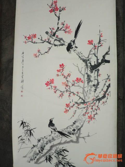 写珍梅花喜鹊图