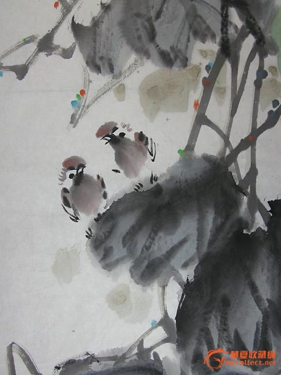 国画 花鸟条幅作品 水墨写意葫芦秋收图