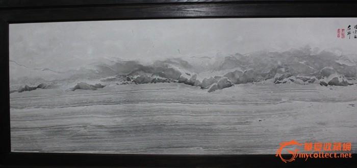 天然大理石画 水墨山水画 《苍洱大观》 挂屏 屏风 背景墙