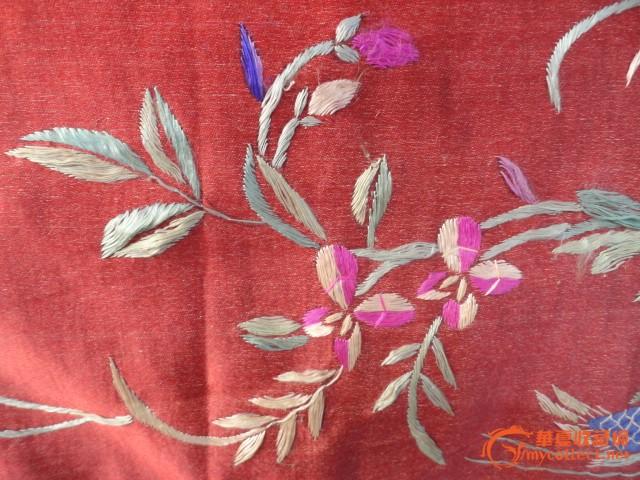 民国精美绣花和鸳鸯挂帘