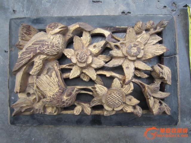 金雕木雕花鸟板