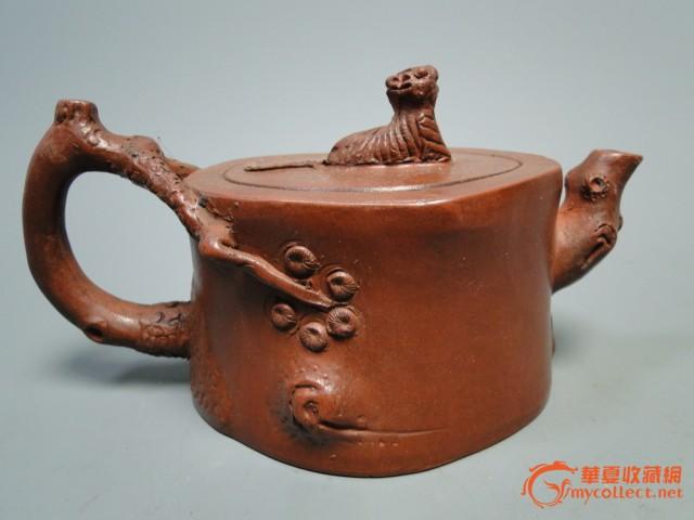 收藏品手工制品大清乾隆年制紫砂壶图片