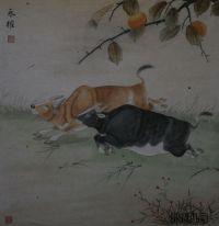 【送礼佳品】画家张永权 十二生肖工笔画之 牛 系列图片