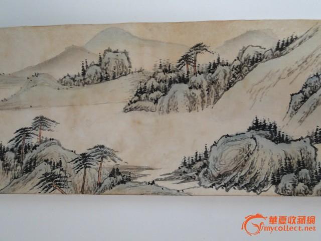 藏品老书画中堂条幅横幅王昱山水画图片