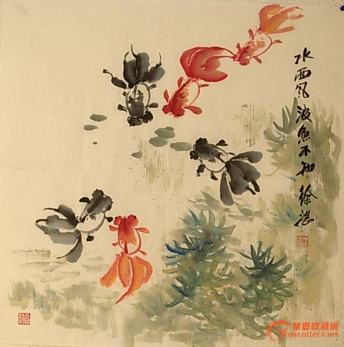 写意金鱼画法写意牡丹画法国画写意牡丹的画法
