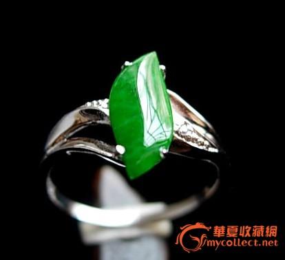 5mm圆形手镯送证 天然a货冰糯种镶嵌祖母绿翡翠戒指送证 完美老坑冰种