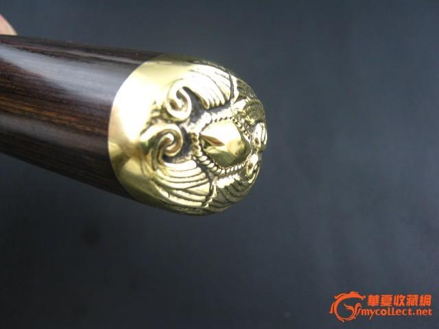 手工精制花纹钢(大马士革钢)猎刀