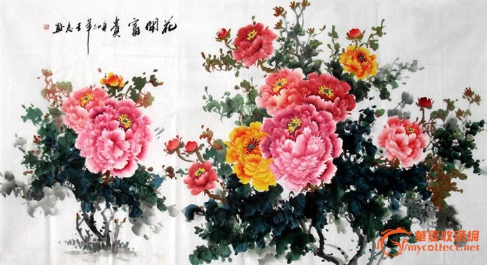 王志·六尺国画牡丹