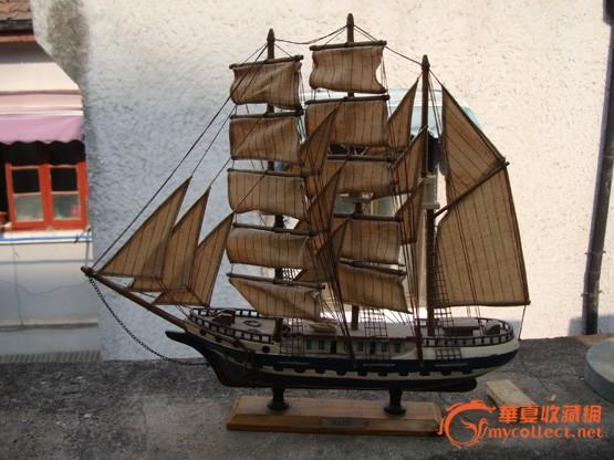 全手工木质帆船